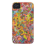 Colorful Psychedelic iPhone 4/4S Barely There Case iPhone 4 Case