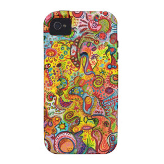Colorful Psychedelic iPhone 4/4S Vibe Case Vibe iPhone 4 Cases