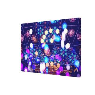 Colorful Psychedelic Lights Shapes Amusement Park Canvas Print