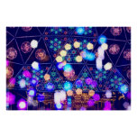 Colorful Psychedelic Lights Shapes Amusement Park Poster