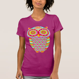Colorful Psychedelic Owl Shirt
