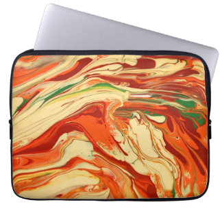 Colorful psychedelic pattern laptop sleeve