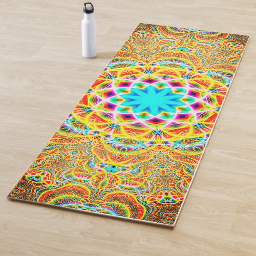 Colorful Psychedelic Patterns Yoga Mat