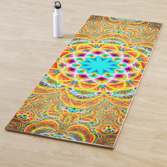 how to get big sale free delivery Colorful Psychedelic Patterns Yoga Mat