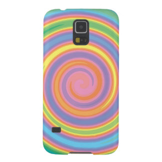 Colorful psychedelic pinwheel swirl design case for galaxy s5