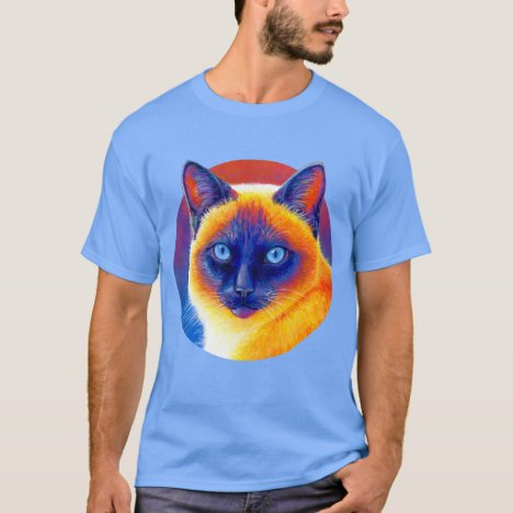 Colorful Psychedelic Siamese Cat T-Shirt