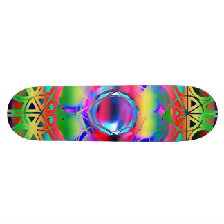Colorful Psychedelic Skateboard Deck