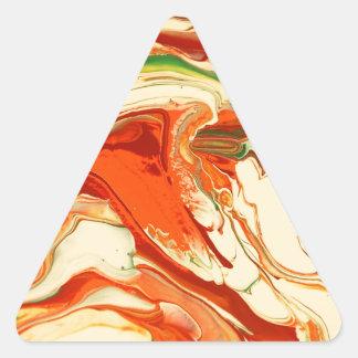 Colorful psychedelic swirl design triangle sticker