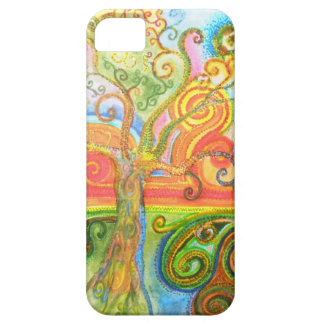 Colorful psychedelic swirly tree iPhone 5 case