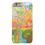 Colorful psychedelic swirly tree iPhone 6 case