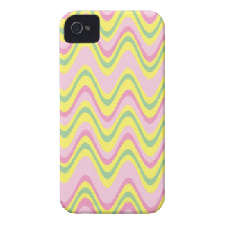 Colorful psychedelic wavy pattern iPhone 4 cover