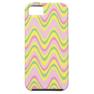 Colorful psychedelic wavy pattern iPhone SE/5/5s case