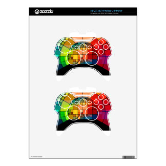 Colorful psychedelic xbox 360 controller skin