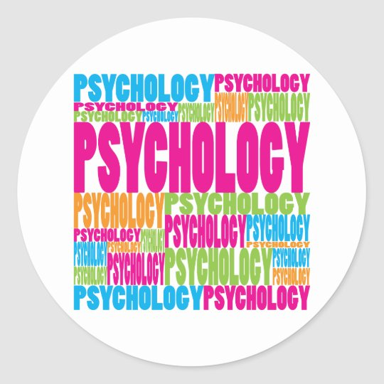 Colorful Psychology Classic Round Sticker