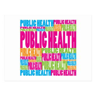 Colorful Public Health Postcard