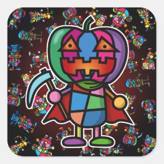 colorful pumpkin2 square sticker