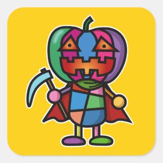 colorful pumpkin square sticker