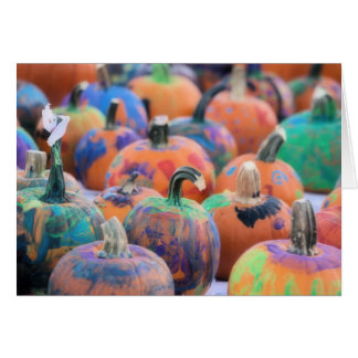 Colorful Pumpkins Photography Halloween Cards