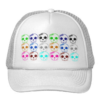 Colorful Punk Skulls Baseball Hat