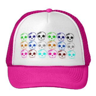 Colorful Punk Skulls Baseball Hat - Customized