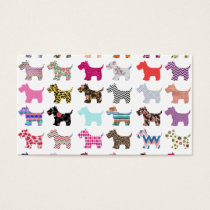 Colorful Puppy Dog Chevron Zigzag Floral  Pattern