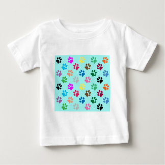 Colorful puppy paws pattern baby T-Shirt