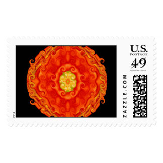 Colorful pure energy POSTAGE STAMP