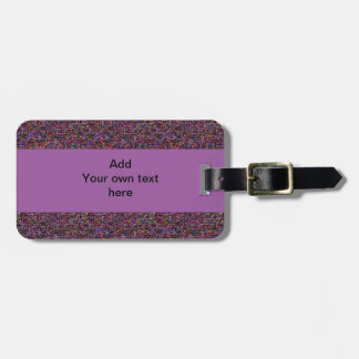 Colorful purple abstract pattern Luggage Tag