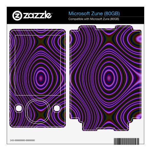 Colorful purple abstract pattern skin for zune