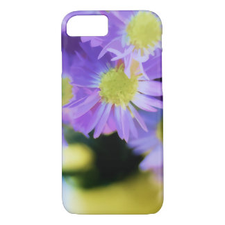 Colorful Purple Asters Illustration iPhone 7 Case