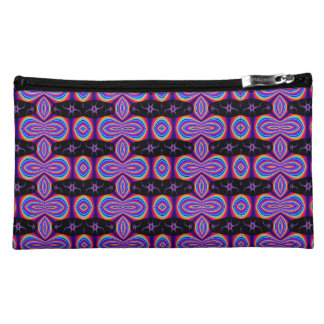 Colorful purple black abstract pattern cosmetic bag