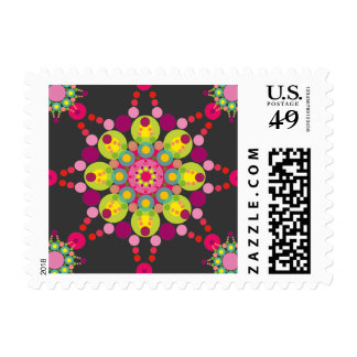 Colorful Purple Festive Ornament Holiday Stamps