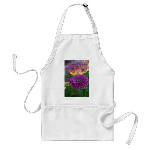 Colorful Purple flower orange flowers quote Apron