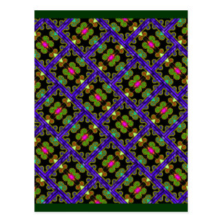 Colorful Purple & Green Mexican Style Postcard