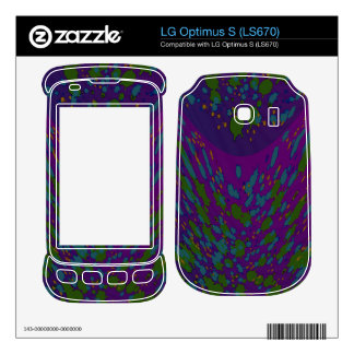 Colorful purple green spots abstract skins for LG optimus s
