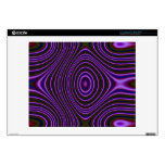 Colorful purple modern pattern decals for laptops