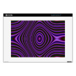 Colorful purple modern pattern skins for laptops