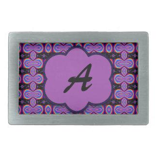 Colorful Purple Monogram Belt Buckle