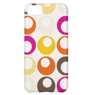 Colorful Purple Orange Yellow Peach Circles Balls iPhone 5C Cover