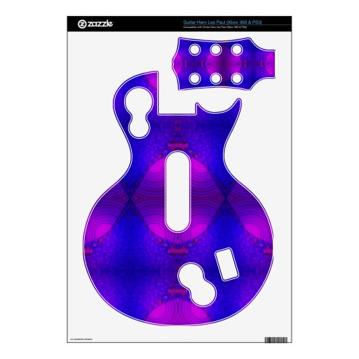 colorful purple pink abstract guitar hero decal