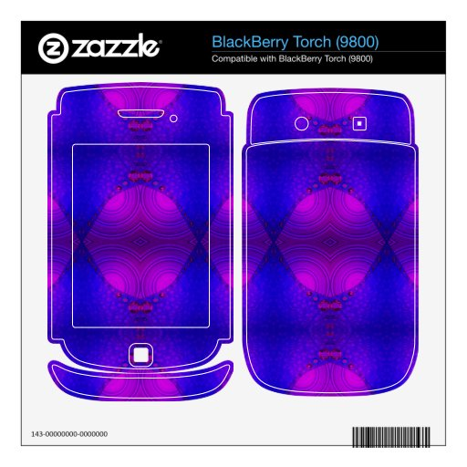 colorful purple pink abstract BlackBerry torch decals