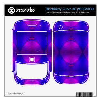 colorful purple pink abstract BlackBerry curve skins