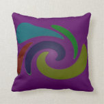 Colorful purple pop art abstract throw pillows