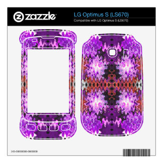 Colorful purple red puff abstract skin for the LG optimus s