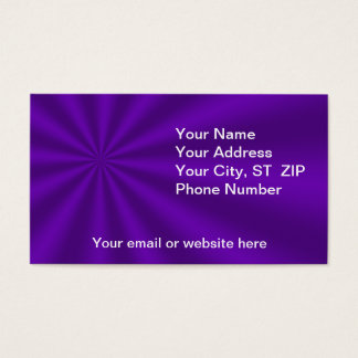 Colorful Purple Starburst Business Cards