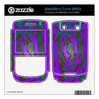 colorful purple teal abstract BlackBerry curve skin
