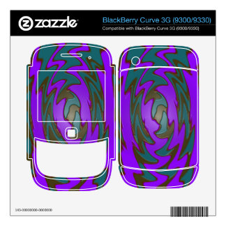 colorful purple teal abstract BlackBerry curve 3G skins