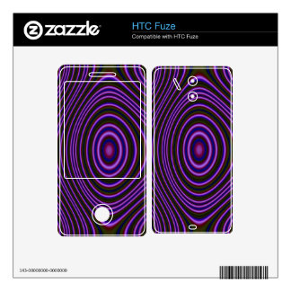 Colorful purple trendy pattern skin for the HTC fuze