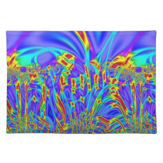 Colorful purple turquoise abstract place mats