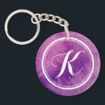 """Colorful Purple Watercolor Monogram 